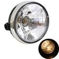 Motocicleta lámpara de faro moto phare para honda cb400 cb500 cb1300 hornet250 hornet600 hornet900 vtec vtr250 ronda halógeno cromado