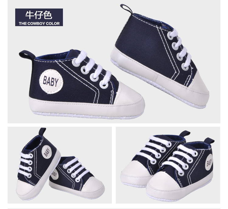 400233fe5 Carters Infant Newborn Canvas Soft Solid Baby Jordan Shoes Baby Girls Boys  First Walkers Toddler Bebe Boots Baby Moccasins 1Pair-in First Walkers from  ...