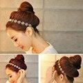 Девушка Моды Металлической Цепью Ювелирные Изделия Полые Розы Эластичный Диапазон Волос Повязка лента для волос аксессуары для волос