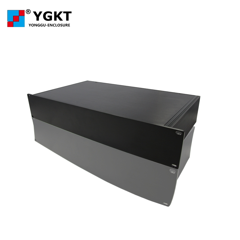 YGH-002 482*132-D (wxhxd) 3u 19 inch rack mount chassis aluminum boxes electronics 482 133 4 295 250mm aluminum communication video aluminum frame chassis housing case with handle ygh 002 3u