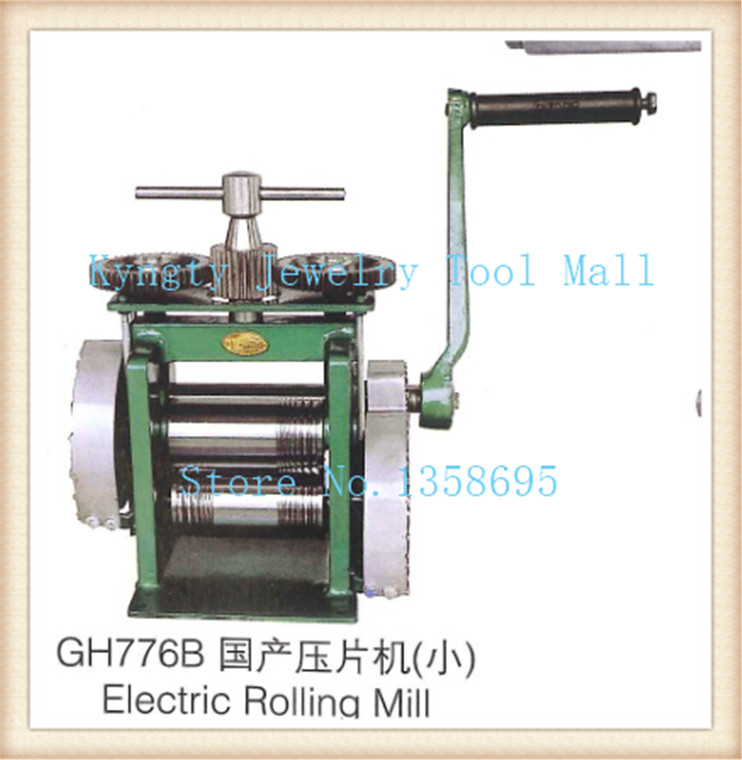 Hand Operate mini gold Rolling Mill jewelry rolling mill with Maximum opening 0-5 mm tablet press machine