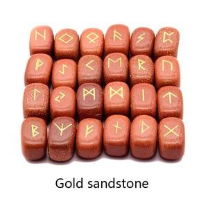 Image 4 - 25 pcs טבעי אבן גילוף ויקינג מילות הקסם קמע סט רייקי רוני אלפבית ריפוי גבישי קוורץ ניחוש אבנים תכשיטים