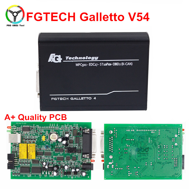 High Quality Fgtech Galetto 4 V54 Master ECU Chip Tuning Tool FG-Tech V54 BDM-TriCore OBD Support BDM Function dhl free fgtech galetto 4 master ecu chip tuning tool newest version fg tech v54 bdm tricore with compass as gift