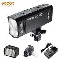 Godox AD200 ttl 2,4G Вспышка для фотокамер Speedlite HSS 1/8000 s карманный фонарик с двумя головками 200Ws с 2900 мА/ч, литий Батарея стробоскопическая вспышка для