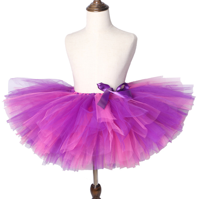 8c557a57d Pink & Purple Girls Tutu Skirt Handmade Fluffy Tulle Children Skirts Girls  Kids Party Dance Ballet Pettiskirt Birthday Baby Tutu