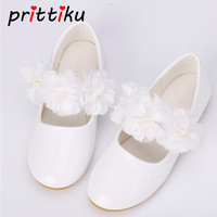Baby Toddler Girl White Fashion Flats Little Kid Mary Jane PU Leather Loafers Big Children Party