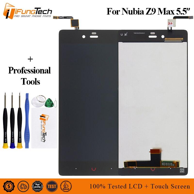 Display LCD Da 5.5 Pollici Dello Schermo di Tocco Per ZTE Nubia Z9 Max NX510J NX512J NX518J Display LCD Assembly Con Gli Strumenti