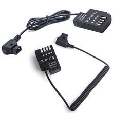 Переходник постоянного тока с D Tap на DCC12 для аккумулятора Panasonic DMC GH3 GH4 GH5 и Anton Bauer V