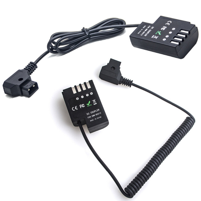 D Tap naar DCC12 Dummy Batterij DC Coupler Power Cable Adapter voor Panasonic DMC GH3 GH4 GH5 & Anton bauer V Mount DMW DCC12