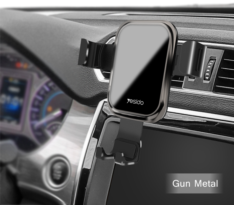 Tempered Glass Gravity Car Phone Holder Air Vent Car Mount Holder (14)