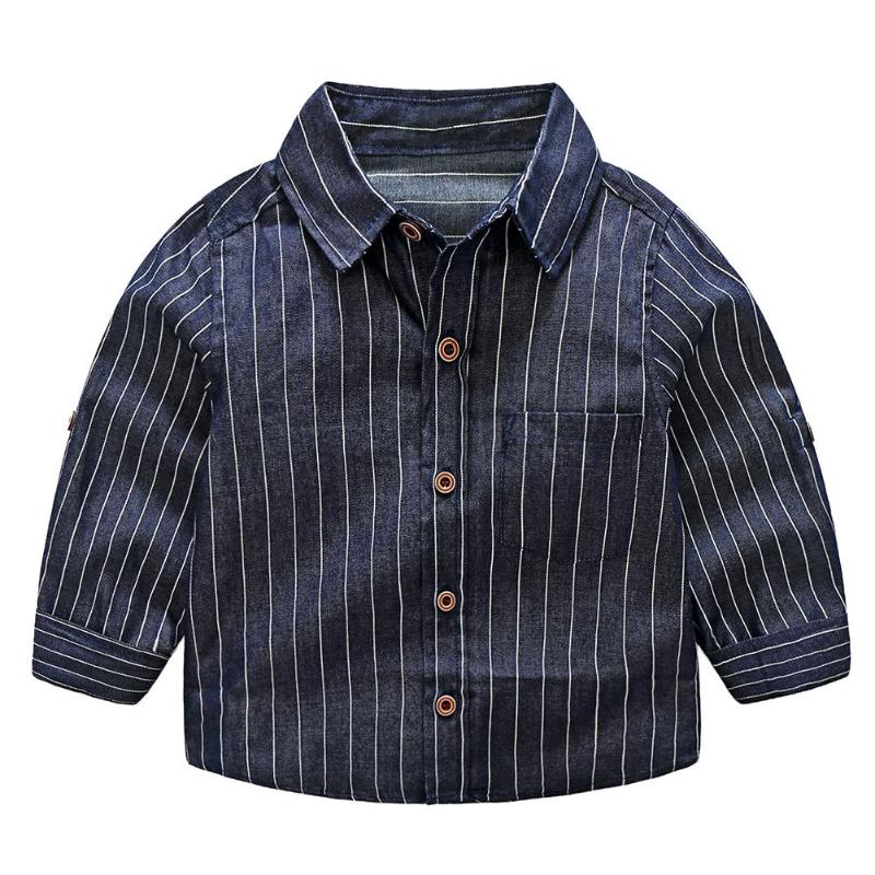 Blouses Clothing Striped-Shirts Spring Long-Sleeve Baby Cotton Children Boy's Kid's 2-6-Years