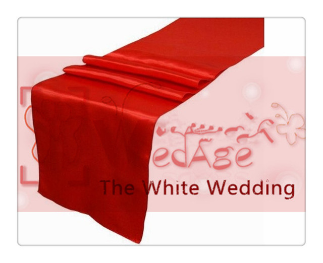 Superior 36 Piece Dark Red Table Runners For Wedding FREE SHIPPING Decor