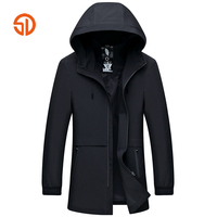 Long Jackets Mens Business Casual Hooded Trench Coat Male Windbreaker Spring Autumn Plus Size XXXXL Solid