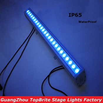 LED Bar Wall Washer Light 24X3W RGB 3IN1 IP65 Waterproof 80W Led Wall Wash Lights 110-220V For Party Weeding Events Lighting jiawen waterproof ip65 36w rgb led high power wall washer outdoor lighting ac85 265v