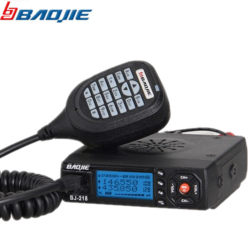 Baojie BJ-218 long range Car Mini Mobile Radio Transceiver VHF/UHF BJ 218 Vericle Car Radio 10km Sister KT8900 KT-8900R UV-25HX