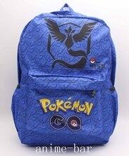 Pokemon GEHEN Blue Team Mystic Arktos Laptop Rucksack Anime Schulter Schultasche Unisex Cartoon Student Blau Taschen