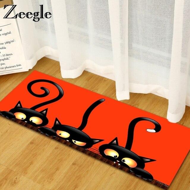 Zeegle Bem-vindo Tapetes Tapetes de Cozinha Casa de Flanela Capachos Sala Quarto Sofa Tabela Tapete de Área Tapetes Anti-Slip tapete