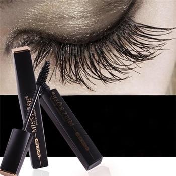 MISS ROSE 4D Big Eyes Fiber Lash Waterproof Mascara For Eyelash Extension Black Curling And Thick Eye Lashes Cosmetics Mascara