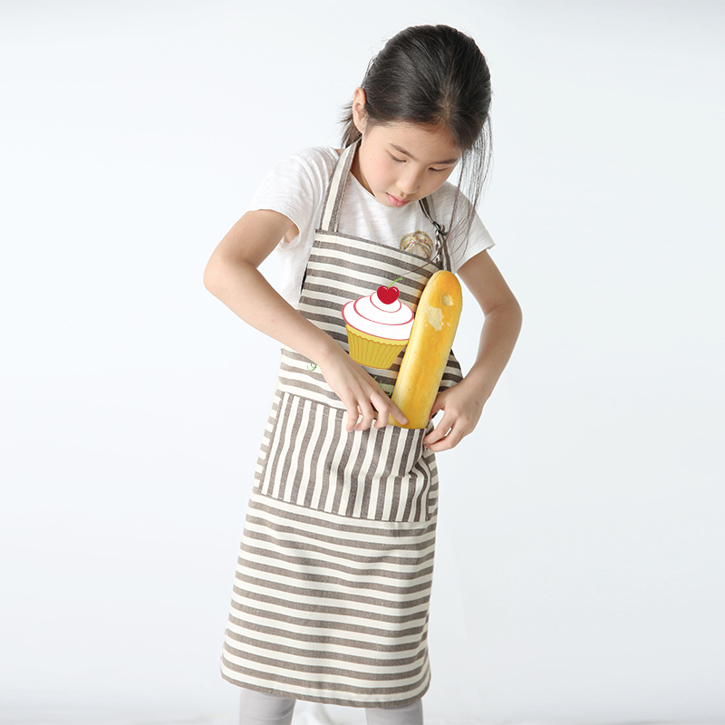 Children 39 s Apron Flower Shop Cake Shop Baking Restaurant Eating Adjustable Halter Sleeveless Apron Printing in Aprons from Home amp Garden