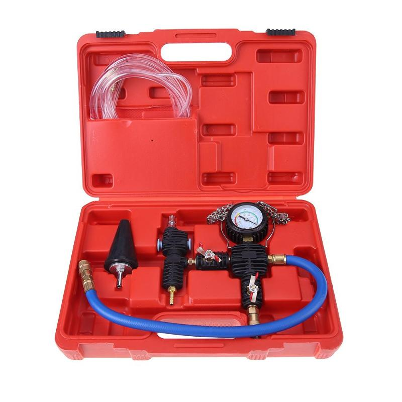 Purga del vacío recarga Set Auto recarga Kit de refrigeración radiador Universal bomba de vacío sistema de refrigeración purga herramienta de Relleno