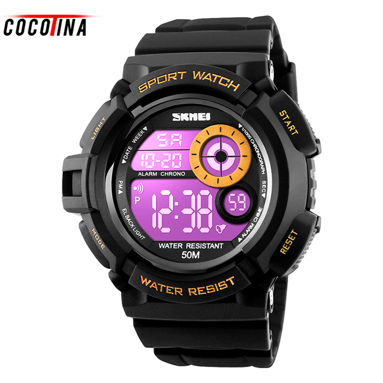 COCOTINA Outdoor Sports Watch Waterproof Shockproof Men Mountaineering Electronic Men's Watch Wristwatches Top Quality HL0428 sports outdoor multifunction electronic watch for men