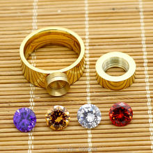 2016 New Fashion Luxury Brand Unique Style Gold Finger Rings For Women Men