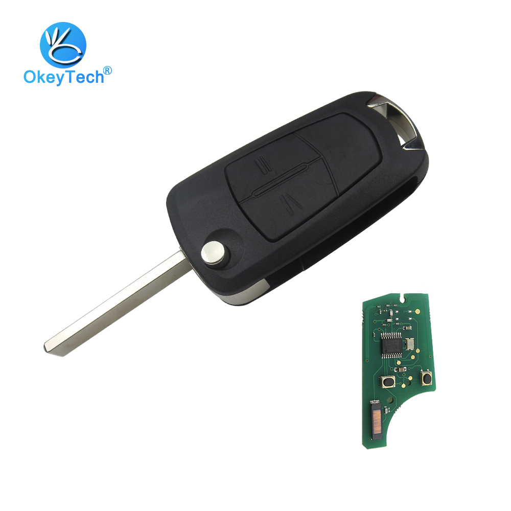 OkeyTech for OPEL Remote Key 2 Button PCF7941 Chip 433MHZ Flip Fold Control for Vauxhall Opel Astra H 2004-2009 Zafira B 2005 цена 2017