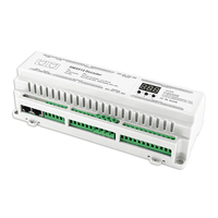 New DMX512 Decoder DC12V 24V 3A*40CH Max 120A 2880W output RGB/RGBW Strip Decoder RJ45 Connect LED screen 40 Channel DMX Decoder