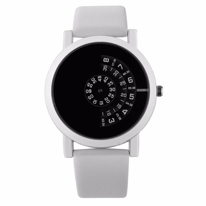 Leather Led Creative Waterproof Minimalist Personality Normal Watch 76yIgvYbf