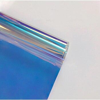 HOHOFILM 68cmx600cm Rainbow Effect Dichroic Window Film Iridescent Glass Film Rainbow Effect Window Film Acrylic glass Sticker