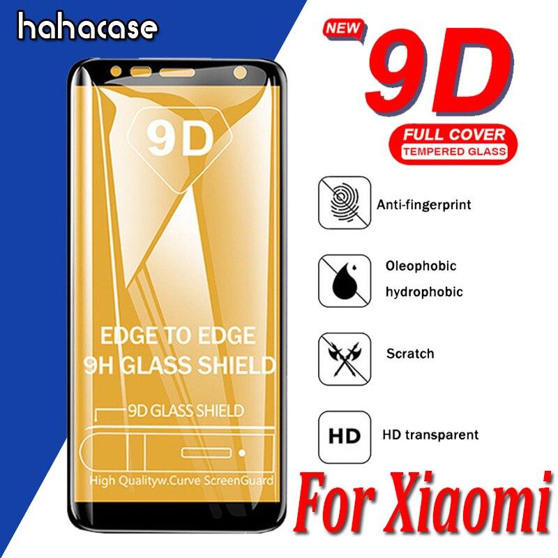 50pcs 9D Full Coverage Tempered Glass For Xiaomi Mi 9 8 SE Lite 6 6X F1