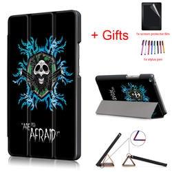 Новый чехол для HUAWEI MediaPad T3 8,0 Tablet, модный принт PU кожа свет Вес Магнит Стенд защитный чехол + пленка + ручка