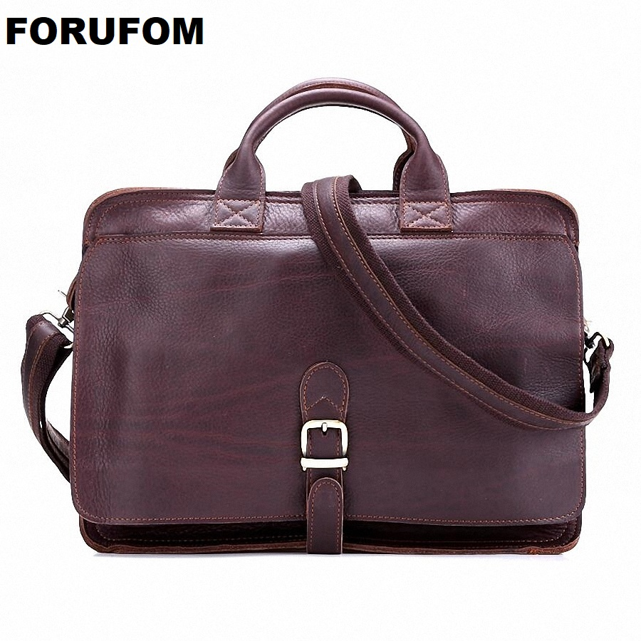 Luxury Genuine Leather Men's 14laptop Briefcase Leather Business Briefcase Shoulder Bag Men Messenger Bag Tote Handbag LI-1408 zyg 3a4880 80a ac control ac ssr three phase solid state relay