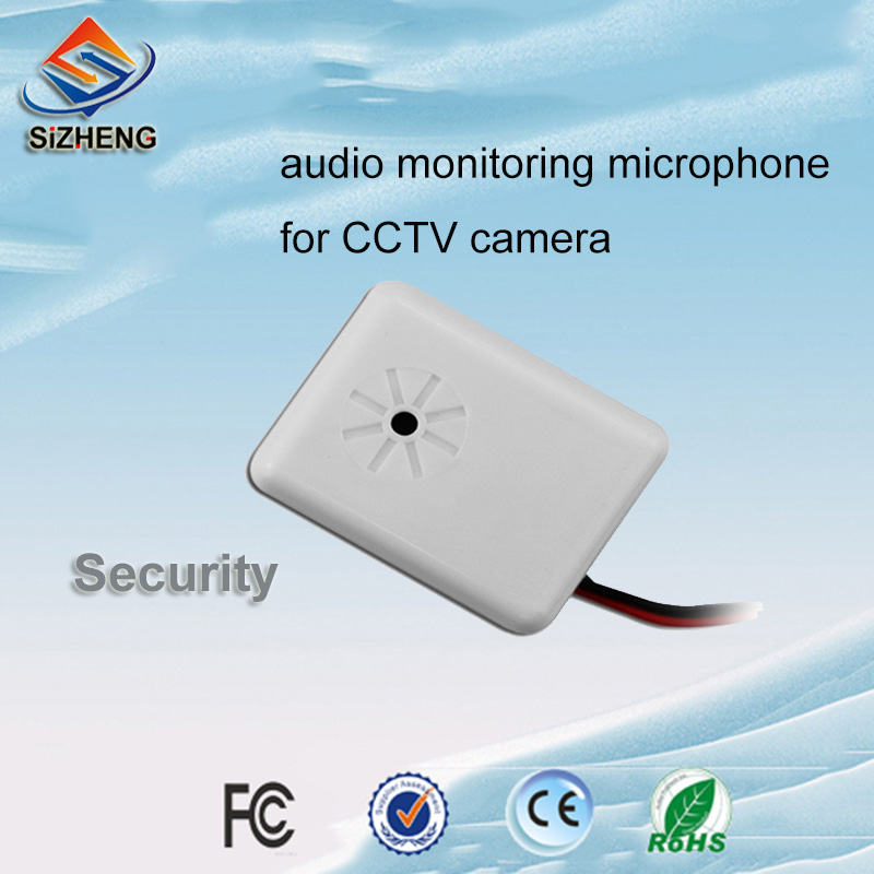 SIZHENG CCTV Wall Audio Monitoring Microphone Security Device Sound Pickup Head