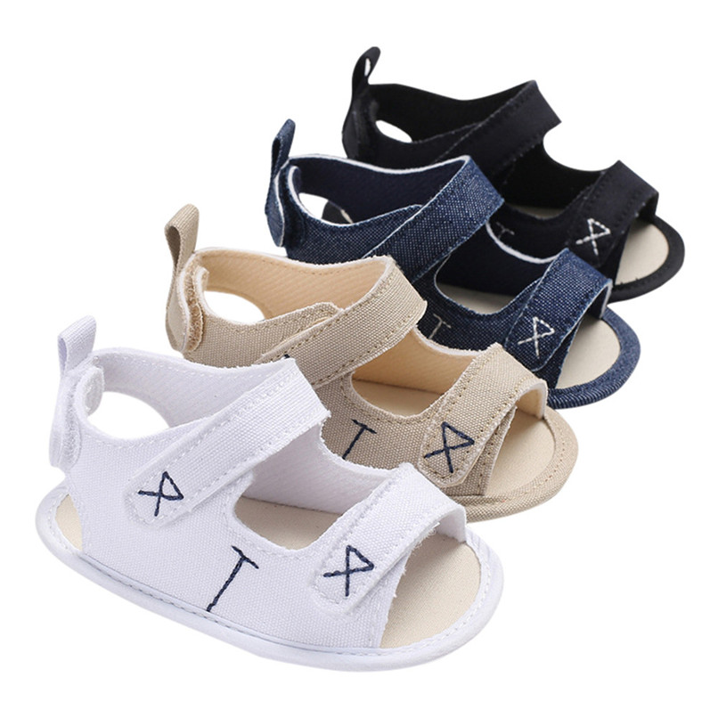 Baby Sandals Infant Toddler Newborn Baby Boys Girls Solid Embroidery Shoes Soft Sole Anti-slip Shoes Baby Girl Sandals M8Y30#F