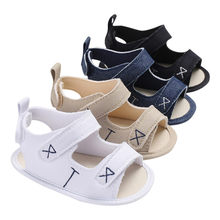 Baby Sandals Infant Toddler Newborn Baby Boys Girls Solid Embroidery Shoes Soft Sole Anti-slip Shoes Baby Girl Sandals M8Y30#F(China)