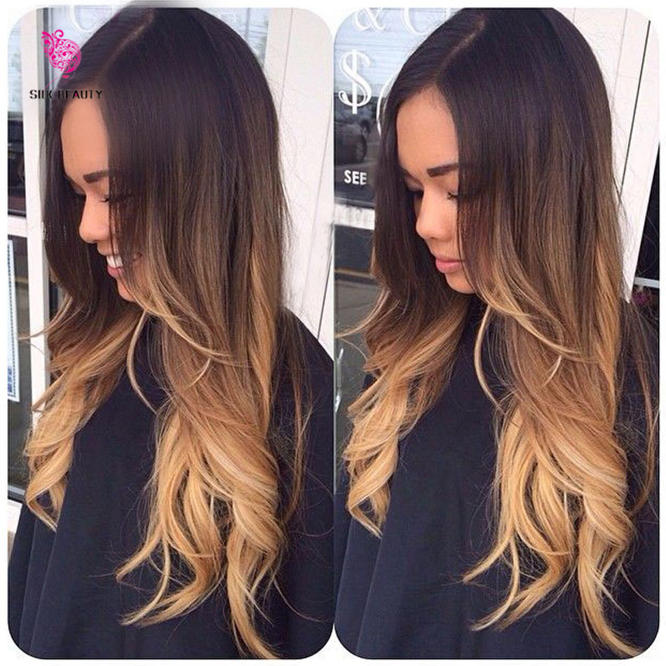 3 color ombre on dark brown hair