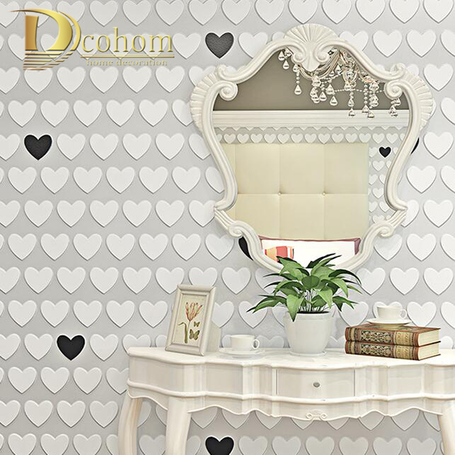 Online kopen wholesale roze hart behang uit china roze hart behang ...