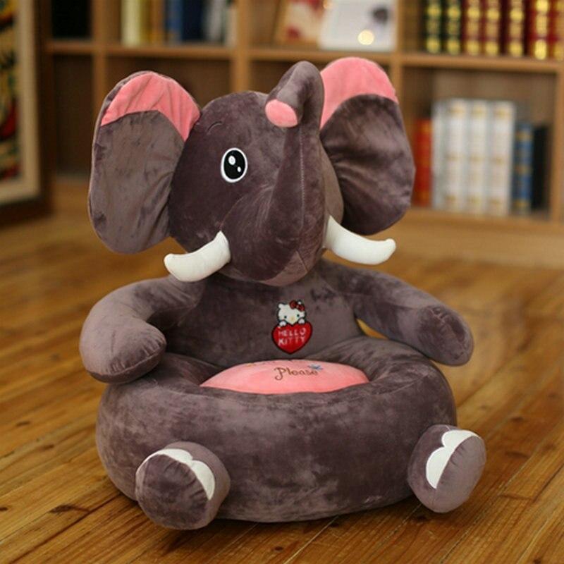 Livraison directe cartoon gris éléphant en peluche canapé éléphant en peluche jouet canapé siège coussin pour enfants, poupée en peluche