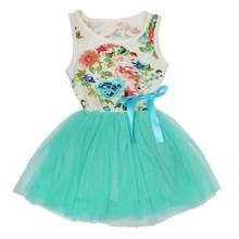 Цветок девочки платья для партии и свадебные Новорожденных Девочек Цветочные Платья Принцесса Бантом Жилет детская одежда пром платья