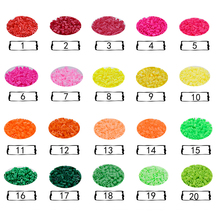 DOLLRYGA 5mm 1000 PCS 50 Colors Beads for Kids hama Perler DIY Puzzles Peas High Auality Handmade Gifts Children Toy