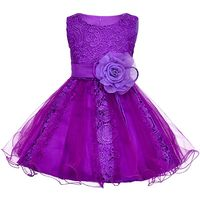 Summer Formal Kids Dress For Girls Lace High Grade Princess Wedding Party Dresses Girl Clothes 12