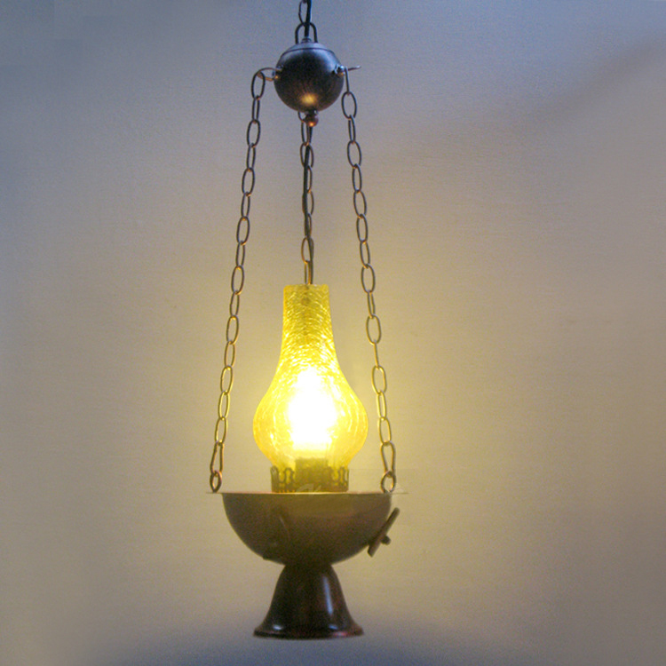 Vintage Industrial Shop Light: Hot Pot Style Hanging Lamp Iron Vintage Pendant Light
