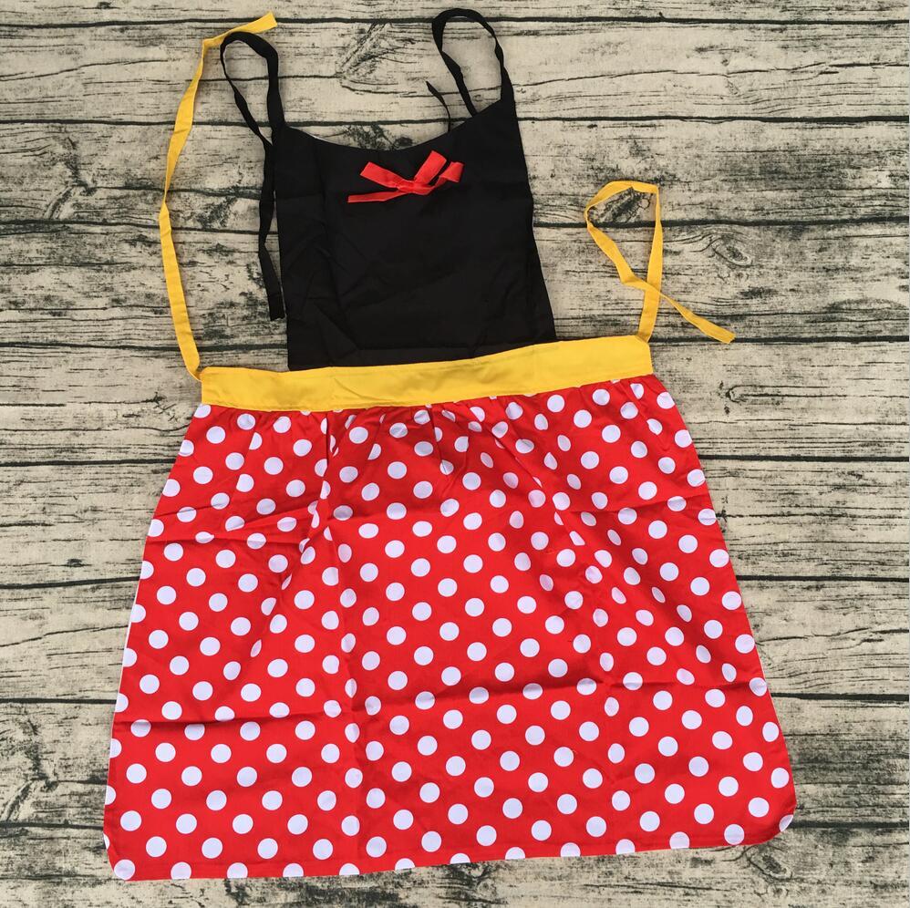2017 Retail hot sale products fashion beauty princess dress cotton fabric adult kids apron