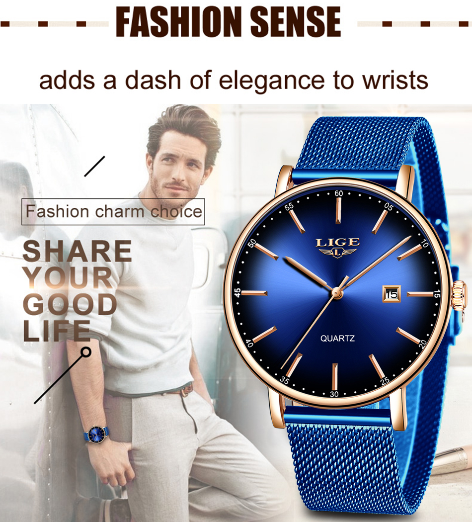 HTB1fRhUbhD1gK0jSZFsq6zldVXaO LIGE Fashion Mens Watches Top Brand Luxury Blue Waterproof Watches Ultra Thin Date Simple Casual Quartz Watch Men Sports Clock