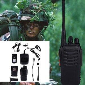 Image 4 - 2 قطعة لاسلكي تخاطب المهنية CB محطة راديو Baofeng جهاز الإرسال والاستقبال 5 واط VHF UHF المحمولة الصيد لحم الخنزير راديو