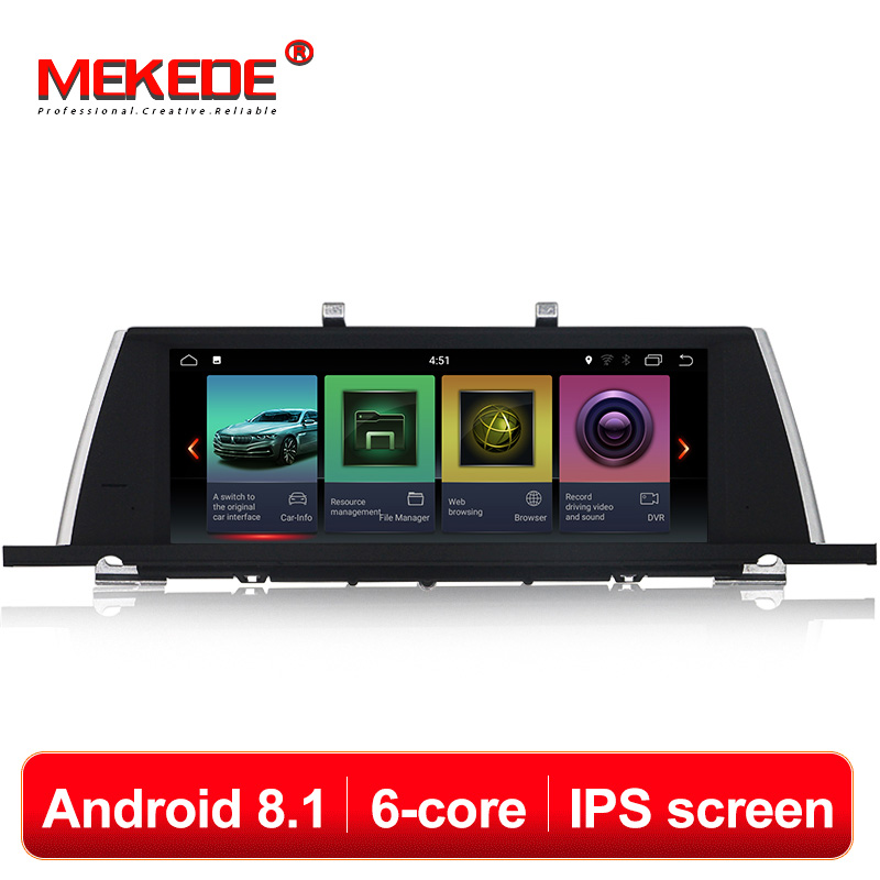 MEKEDE Seis Núcleos Android 8.1 Car Multimedia DVD Player GPS de Navegação Para BMW Série 5 F07 GT 2009-2016 CIC NBT sistema 4G Lte