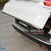 For 2014 2015 Peugeot 2008 Door Sticker Stainless Steel back door Tailgate trim Car Styling Accessories