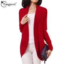 TANGNEST Women Cardigan Spring Fashion Women Sleeve Knitted Sweater Cardigans Outerwear Shawl Knitwear Jaqueta Feminina WZL625