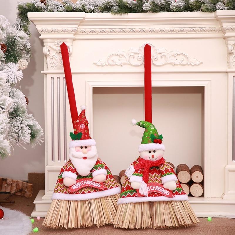 Christmas Decoration Broom Cover Supermarket Hotel Xmas ...